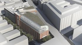 An artist's rendering shows the exterior of the proposed Museum of the Bible, located two blocks from the National Mall in Washington, D.C. in this undated handout image. Hobby Lobby President Steve Green is planning to begin construction on the $800 million 8-storey Bible museum in the fall of 2014, according to local media. REUTERS/Smith Group JJR/Handout via Reuters