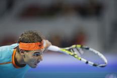 Tenista espanhol Rafael Nadal durante partida pelas quartas de final do Aberto da China, em Pequim. 3/10/2014. REUTERS/Jason Lee