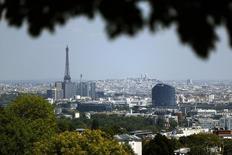 La Banque de France a confirmé mercredi prévoir une croissance de 0,2% de l'économie française au troisième trimestre 2014, dans sa troisième et dernière estimation fondée sur son enquête mensuelle de conjoncture de septembre. /Photo prise le 16 mai 2014/REUTERS/Charles Platiau