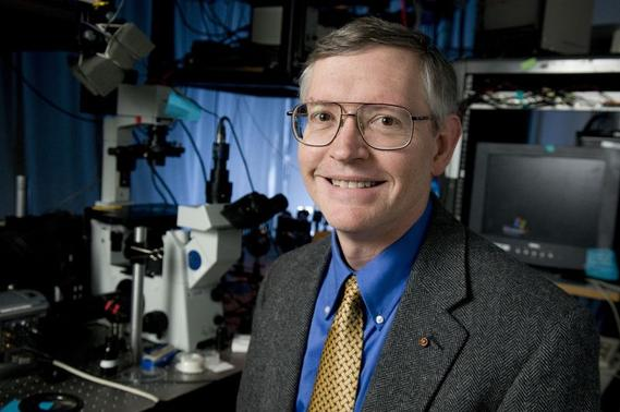 Nobel Chemistry Prize winner William Moerner is seen in an undated handout photo provided by Stanford University in California on October 8, 2014. REUTERS-Linda A. Cicero-Stanford News-Handout