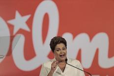 A presidente e candidata à reeleição, Dilma Rousseff, concede entrevista coletiva após o primeiro turno das eleições, em Brasília, domingo. 05/10/2014 REUTERS/Ueslei Marcelino