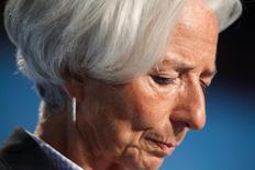 La directora gerente del FMI, Christine Lagarde, durante la reunión anual del FMI en Washington, 8 octubre, 2014. Los encargados de definir las políticas en todo el mundo deben emprender con mayor seriedad las reformas económicas o podrían ver a sus economías atascadas en un crecimiento mediocre y desordenado con alta deuda y desempleo, dijo el jueves la jefa del Fondo Monetario Internacional. REUTERS/Jonathan Ernst