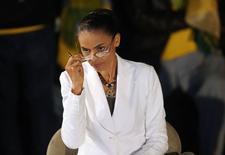 Marina Silva (PSB), terceira colocada na eleição presidencial, em entrevista coletiva em São Paulo. 05/10/2014 REUTERS/Nacho Doce
