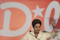 Presidente e candidata à reeleição, Dilma Rousseff (PT), em entrevista coletiva em Brasília. 05/10/2014 REUTERS/Ueslei Marcelino