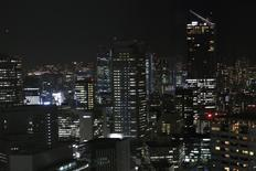 A general view of the business district in Tokyo October 17, 2014. REUTERS/Yuya Shino