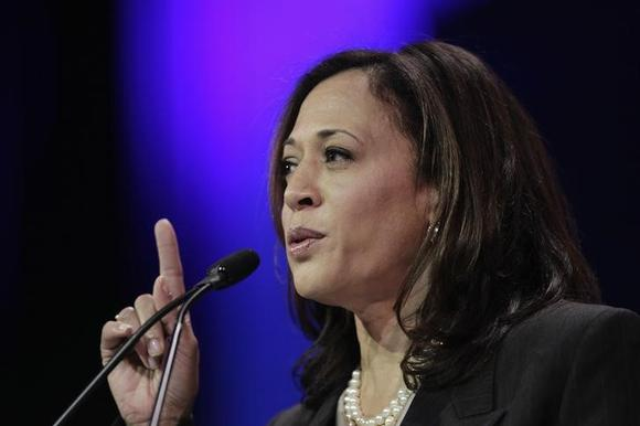 Attorney General Kamala D. Harris speaks at the 2014 California Democrats State Convention at the Los Angeles Convention Center in Los Angeles, California, March 8, 2014.   REUTERS/David McNew