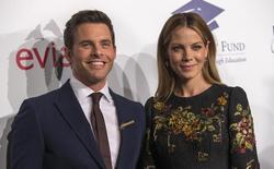 A atriz Michelle Monaghan e o ator James Marsden chegam a um evento em Beverly Hills, nos Estados Unidos. 14/10/2014 REUTERS/Mario Anzuoni