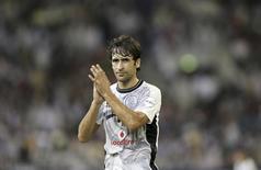 Raul of Spain reacts during the Emir Cup final soccer match against Al-Sailiya at Khalifa stadium in Doha May 17, 2014. REUTERS/Fadi Al-Assaad