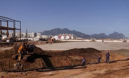 Construção do Parque Olímpico da Rio 2016. Foto de 6 de agosto de 2014. REUTERS/Sergio Moraes
