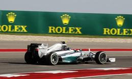 Mercedes Formula One driver Nico Rosberg of Germany drives during the third free practice session of the United States F1 Grand Prix at the Circuit of The Americas in Austin, Texas November 1, 2014.  REUTERS/Mike Stone