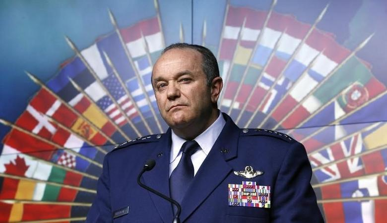 NATO Supreme Allied Commander Europe and Commander of the U.S. European Command General Philip Breedlove listens to a question during a news conference at the National Defence headquarters in Ottawa May 6, 2014. REUTERS/Chris Wattie