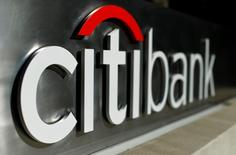 A Citibank sign is shown in downtown Los Angeles, California in this October 29, 2014 file photo.   REUTERS/Mike Blake/Files