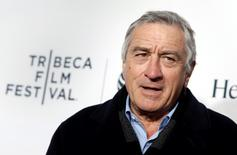 Robert De Niro poses on the red carpet upon arriving for the 2014 Tribeca Film Festival opening night screening of 'Time Is Illmatic' in New York in this April 16, 2014 file photo.  REUTERS/Shannon Stapleton/Files