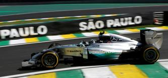 Mercedes Formula One driver Nico Rosberg of Germany drives his car during the second free practice session of the Brazilian F1 Grand Prix at Interlagos circuit in Sao Paulo November 7, 2014. The Brazilian Grand Prix will be held on Sunday. REUTERS/Nacho Doce