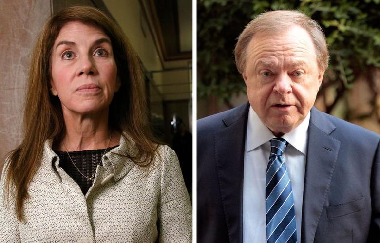 Sue Ann Hamm and Continental Resources Chief Executive Officer Harold Hamm in a combination image.   REUTERS/Files