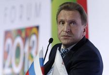 O primeiro vice-premiê russo, Igor Shuvalov, participa de uma conferência sobre investimentos e negócios, em Moscou, na Rússia, no ano passado. 18/04/2013 REUTERS/Sergei Karpukhin
