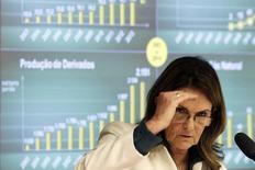 A presidente da Petrobras, Maria das Graças Foster, durante audiência em comissão da Câmara dos Deputados, em Brasília, em abril. 30/04/2014 REUTERS/Ueslei Marcelino