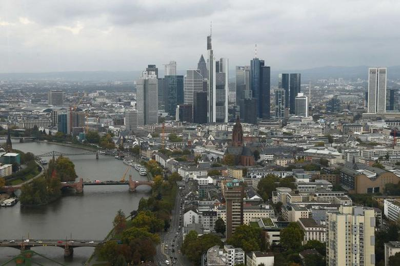 The skyline of the banking district is pictured in Frankfurt, October 21, 2014. REUTERS/Ralph Orlowski/Files