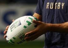 Le groupement formé d'Icade, filiale de la Caisse des dépôts, du belge Besix et de Cofely, filiale de GDF Suez, a été choisi pour la construction du Grand Stade de la Fédération française de rugby, un projet de 600 millions d'euros.  L'enceinte de 82.000 places sera construite à Ris-Orangis, dans l'Essonne et livrée fin 2017. /Photo d'archives/REUTERS/Eddie Keogh