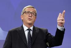 European Commission President, Luxembourg's Jean Claude Juncker addresses a news conference at the European Commission headquarters in Brussels November 12, 2014.  REUTERS/Stringer