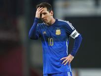 Lionel Messi durante amistoso da Argentina com a Croácia em Londres. 12/11/2014 REUTERS/Eddie Keogh
