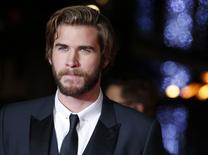 Ator Liam Hemsworth.  10/11/2014  REUTERS/Luke MacGregor