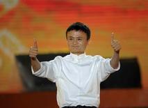 Jack Ma, fondateur du groupe Alibaba, a annoncé jeudi que le groupe allait créer une version internationale de son site de commerce Taobao pour s'adresser aux consommateurs mondiaux dans plusieurs langues, dont l'anglais et le chinois.  /Photo d'archives/REUTERS/China Daily