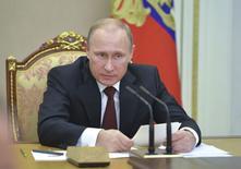 Presidente russo, Vladimir Putin, durante encontro de seu Conselho de Segurança, em Moscou. 20/11/2014. REUTERS/Alexei Druzhinin/RIA Novosti/Kremlin