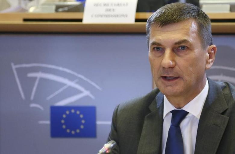 European Union Digital Single Market Commissioner-designate Andrus Ansip of Estonia speaks during his hearing before the European Parliament's Committee on the Internal Market and Consumer Protection at the EU Parliament in Brussels October 6, 2014.  REUTERS/Francois Lenoir