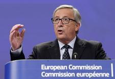 O presidente da Comissão Europeia, Jean Claude Juncker, concede entrevista coletiva em Bruxelas, na Bélgica, no início de novembro. 12/11/2014 REUTERS/Stringer