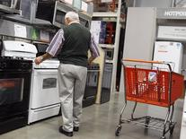 A man shops for an oven at a Home Depot store in New York July 29, 2010. REUTERS/Shannon Stapleton