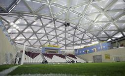 General view of the showcase stadium is seen during the FIFA Inspection Visit for the Qatar 2022 World Cup Bid in Doha September 14, 2010. REUTERS/Fadi Al-Assaad