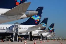 Detalhes das caudas de aeronaves da Azul. 05/11/2013 REUTERS/Divulgação/Gianfranco Panda Beting