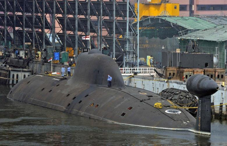 Indian Navy's INS Arihant submarine is pictured at the naval warehouse in the southern Indian city of Visakhapatnam November 18, 2014. REUTERS/R Narendra