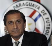 Técnico argentino Ramon Dias dá entrevista coletiva em Assunção. 04/12/2014 REUTERS/Jorge Adorno