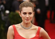 Actress Allison Williams arrives at the Metropolitan Museum of Art Costume Institute Gala Benefit in Upper Manhattan, New York, May 5, 2014.   REUTERS/Lucas Jackson