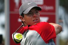 World number one and defending champion Rory McIlroy of Northern Ireland at The Australian Golf Club in Sydney November 30, 2014. REUTERS/David Gray