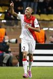 Fabinho, do Monaco, comemora gol marcado sobre o Zenit pela Liga dos Campeões. 09/12/2014  REUTERS/Eric Gaillard