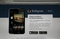 El sitio web Instagram visto en un ordenador en Pasadena, EEUU, ago 14 2013. Instagram, el servicio para compartir fotos propiedad de Facebook Inc, informó que cuenta ya con más de 300 millones de usuarios, que comparten cerca de 70 millones de fotografías y videos cada día.  REUTERS/Mario Anzuoni