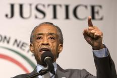 Reverend Al Sharpton announces a march against police violence on December 13 in Washington DC at Reverend Sharpton's National Action Network House of Justice in New York December 6, 2014. REUTERS/Andrew Kelly