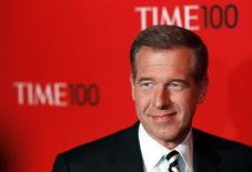 Television personality Brian Williams arrives at the Time 100 Gala in New York, April 24, 2012. REUTERS/Lucas Jackson