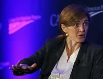 A embaixadora norte-americana na ONU, Samantha Power, participa de um evento em Washington, nos Estados Unidos, em novembro. 19/11/2014 REUTERS/Gary Cameron