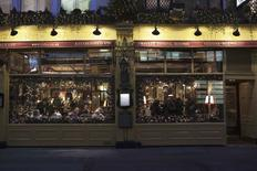 The exterior of Rules restaurant in London is seen in this December 15, 2011 file photo.  REUTERS/Finbarr O'Reilly/Files