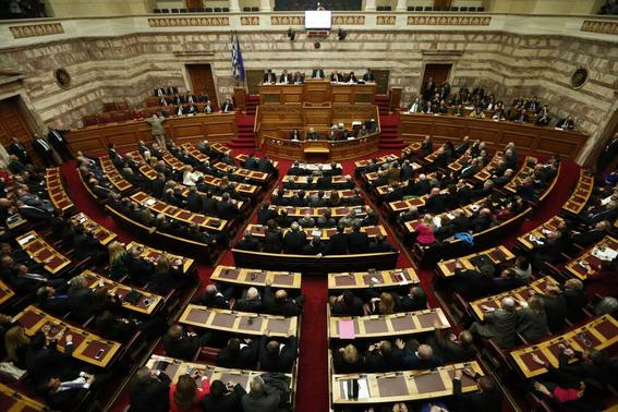 A general view is seen of the Greek parliament during the first of three rounds of a presidential vote in Athens December 17, 2014. REUTERS-Alkis Konstantinidis