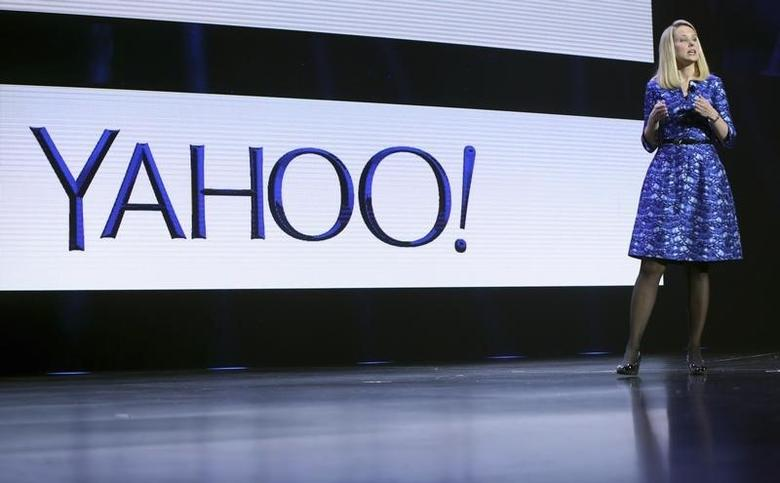 Yahoo CEO Marissa Mayer speaks during her keynote address at the annual Consumer Electronics Show (CES) in Las Vegas, Nevada January 7, 2014. REUTERS/Robert Galbraith