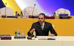 Jordan's Prince Ali bin al-Hussein, head of the Jordan Football Federation, speaks after he won the votes of the Asian Football Confederation (AFC) for the FIFA vice-presidency during the 24th AFC congress in Doha January 6, 2011.  REUTERS/Fadi Al-Assaad