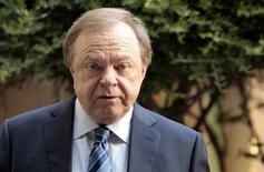 Harold Hamm enters the courthouse for divorce proceedings with wife Sue Ann Hamm in Oklahoma City, Oklahoma  September 22, 2014. REUTERS/Steve Sisney