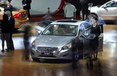 The new Volvo S60 is seen during the Shanghai Auto Show in Shanghai in this April 20, 2011 file photo. REUTERS/Carlos Barria/Files