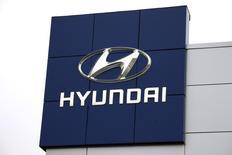 Logotipo da Hyundai. REUTERS/Rick Wilking (UNITED STATES - Tags: TRANSPORT BUSINESS LOGO)