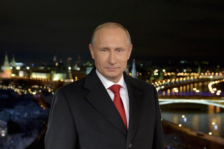 Russia's President Vladimir Putin makes his annual New Year address to the nation in Moscow December 31, 2014. REUTERS/Alexei Druzhinin/RIA Novosti/Kremlin